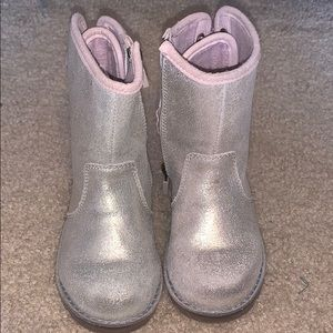 Silver  UGG boots size toddler 8